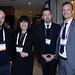 Juan Antonio González y Claudia Orrego, de GNL Quintero; Rodrigo Astudillo y Damián Rio, de Worley Parsons Chile