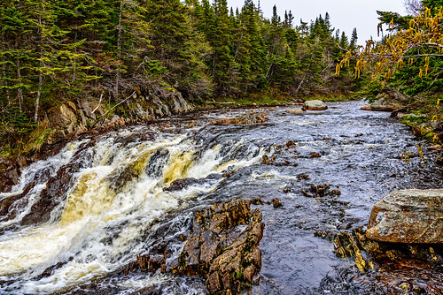 hdr falls lrhdr waterfall river locationrecorded portauxbasque lightroomhdr highdynamicrange newfoundland stream water canada manipulations