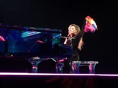 Lady Gaga with Rainbow Flag - Tacoma, WA