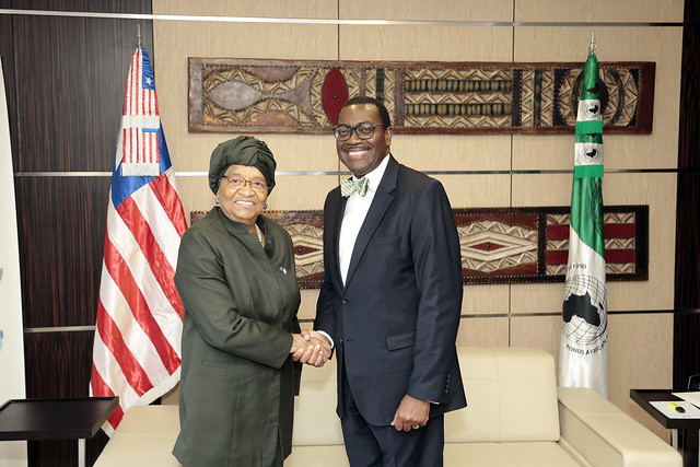 Visit of HE ELLEN Johnson SIRLEAF, President of the Republic of Liberia at AfDB, October 7th, 2017