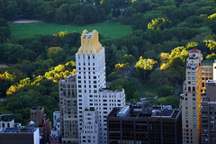 Central Park and Trump Parc Condominiums - North view from Top of the Rock Observation Deck, NYC