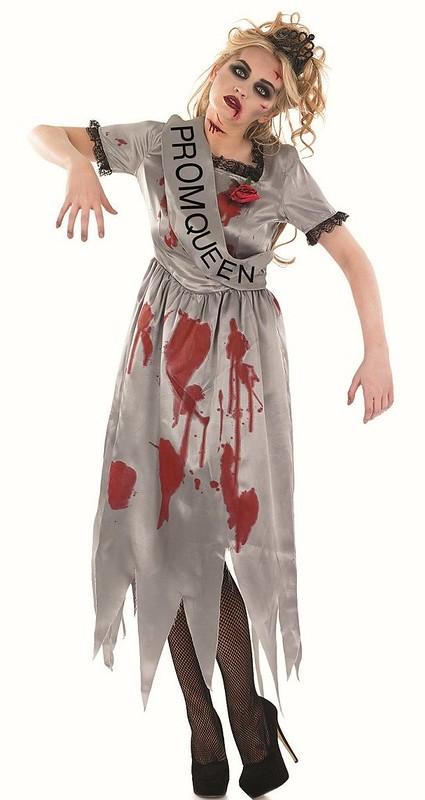 Childrens reginetta del ballo Zombie Halloween Costume Bambini Outfit 8-10 anni
