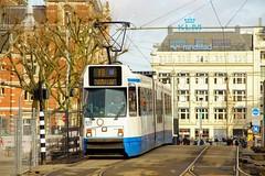 GVB 12G tram Trapwagen 835, Lijn 16 | Leidseplein