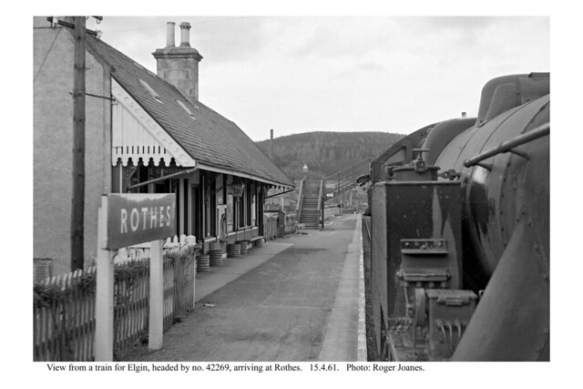 Rothes. View from train arriving. 15.4.61