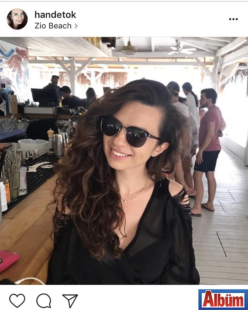 Hande Tok, Alaçatı'da keyifli bir tatil yaptı.