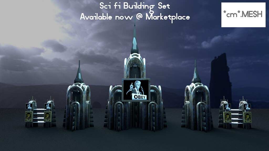 Sci Fi Building Set available now @ Marketplace! - SecondLifeHub.com