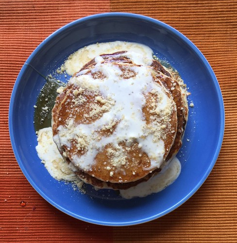 Weekend breakfast: cheese pancakes