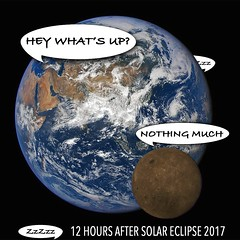The morning after #SolarEclipse2017  Meanwhile in Europe