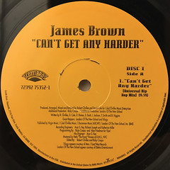 JAMES BROWN:CAN'T GET ANY HARDER(LABEL SIDE-A)