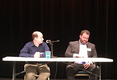 Chris Reeves on a panel at the Data & Democracy Conf…