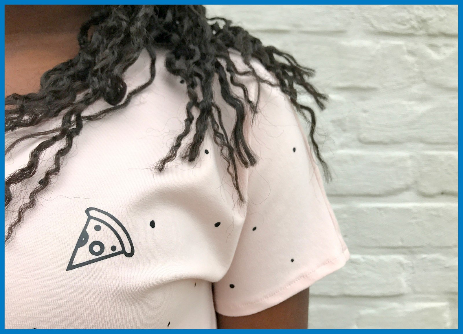 pizza t-shirt (close-up)