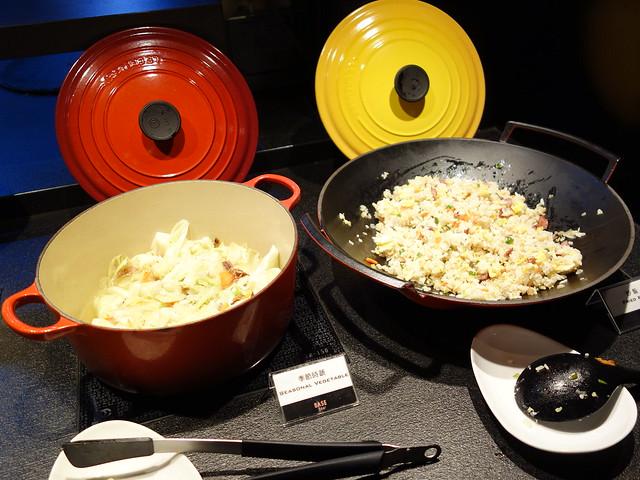 炒飯與炒蔬菜@高雄喜達絲飯店