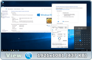 Торрент скачать Windows 10 Professional 15063.608 v.1703 by IZUAL (x64)