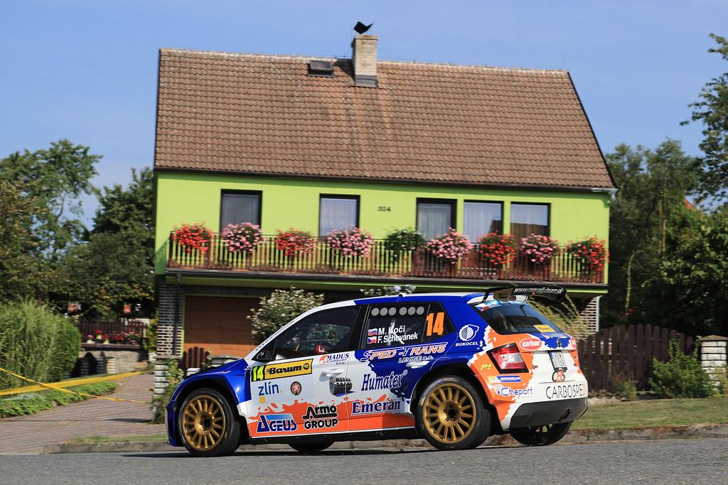 14 KOCI Martin (SVK) SCHOVANEK Filip (CZE) Skoda Fabia R5 action during the 2017 European Rally Championship ERC Barum rally,  from August 25 to 27, at Zlin, Czech Republic - Photo Jorge Cunha / DPPI