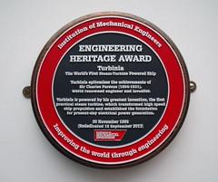 Photo of Charles Algernon Parsons grey plaque