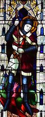 war memorial window: St George (Lavers & Westlake, 1920)