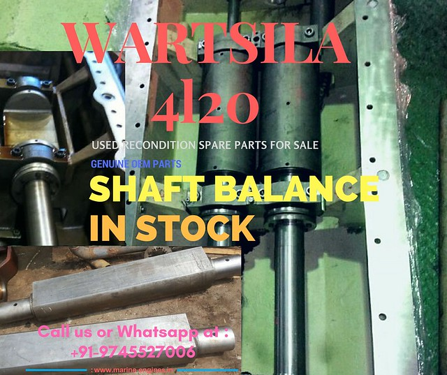 Wartsila Engine Motor spare Parts for Sale, Wartsila Seller, Stock, Used, Recondition, Marine, Moteur, Wartsila 4L20 Shaft Balance, Wartsila Generator, Wartsila Main Engine,