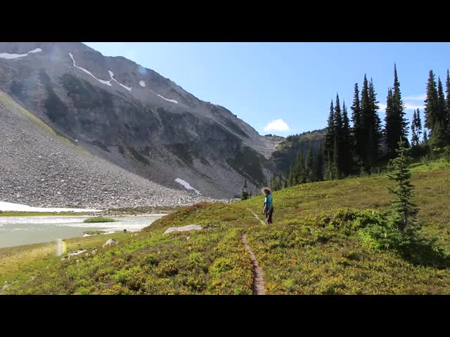 4415 Video panorama of the Upper Lyman Lakes Basin and Spider Gap