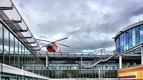 The emergency helicopter