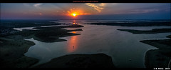 Aerial View of Lake Lewisville at Sunset