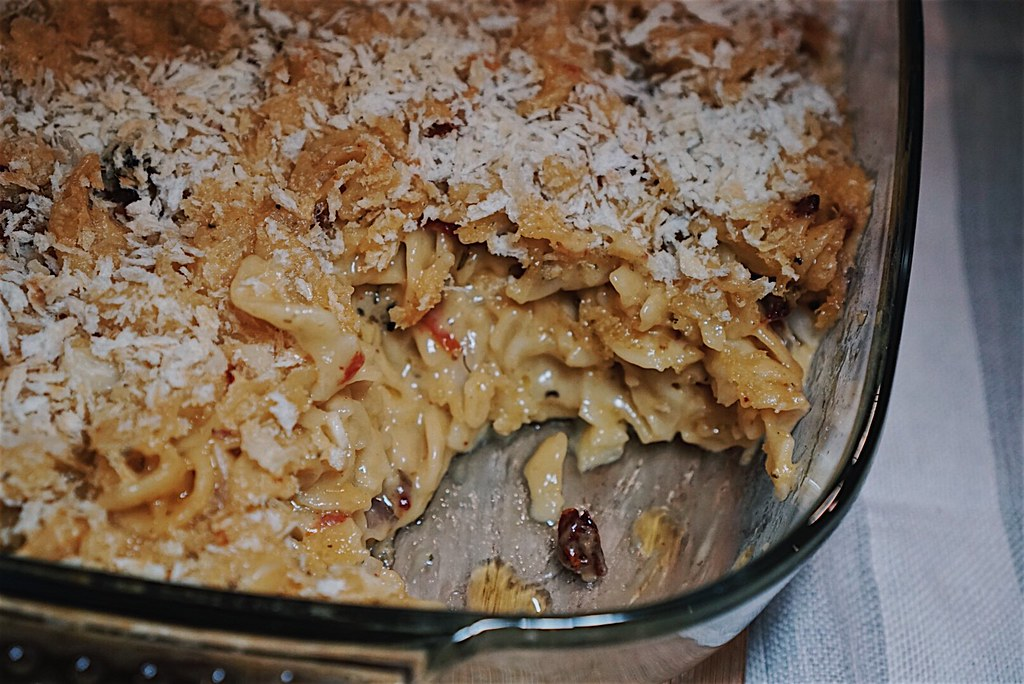 sun-dried tomato mac + california cheese recipe