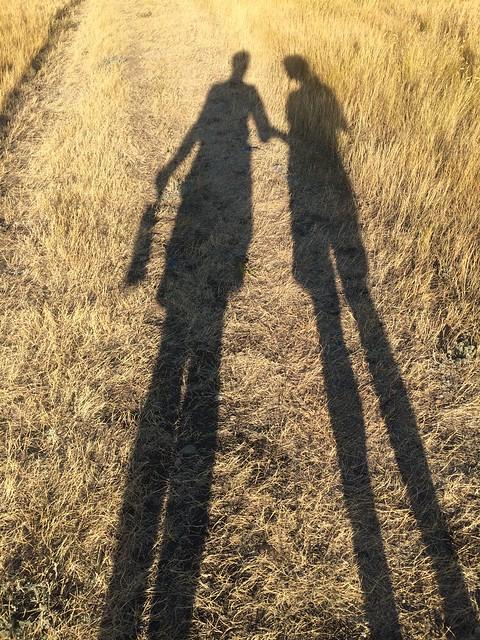 Grasslands West block shadow selfie