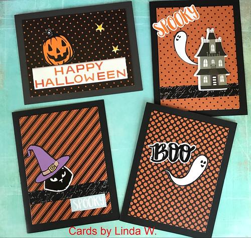 Halloween cards set 3