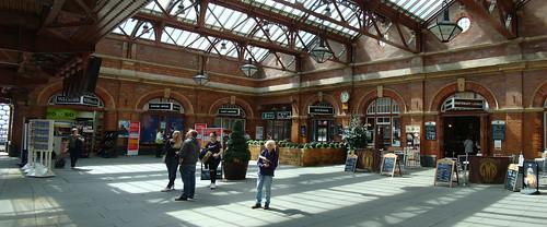 Under the station roof at Birmingham Moor Street