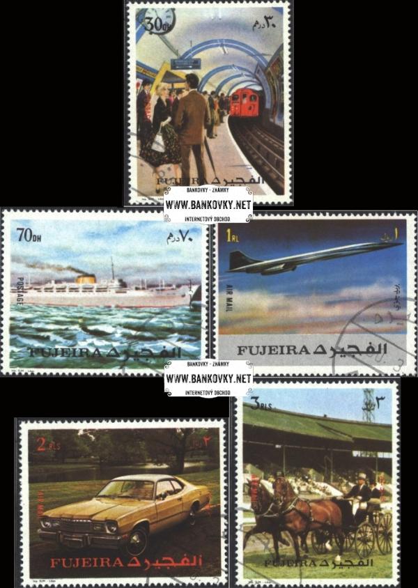 Známky Fujeira 1972 Doprava, razítkovaná séria
