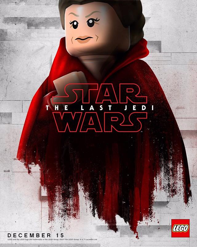 Plakaty LEGO z postaciami Star Wars The Last Jedi 3