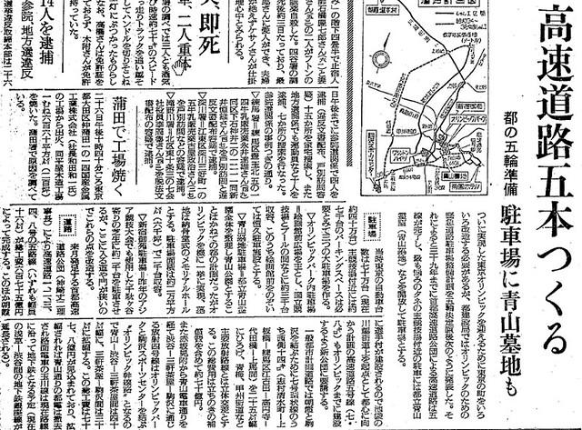 東京オリンピックと道路
