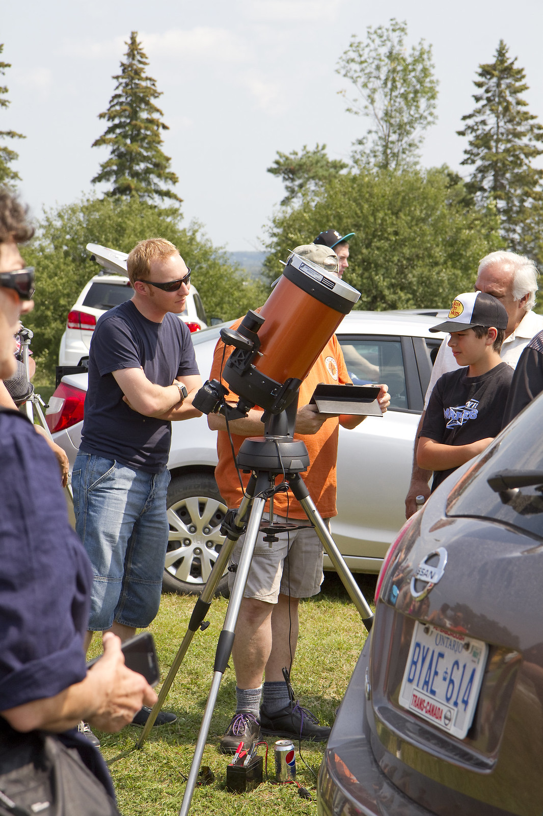 solar eclipse - telescope with camera