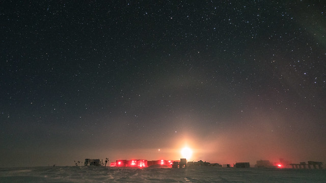 South Pole Station and the Moon