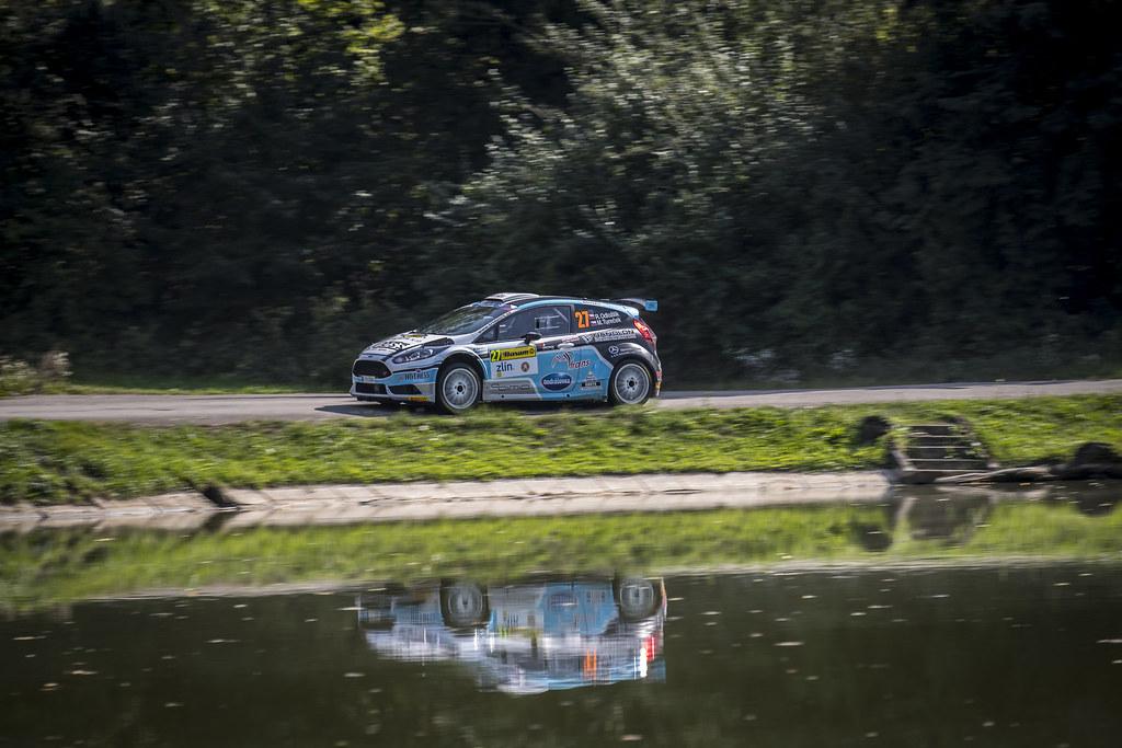 27 ODLOZILIK Roman (CZE) TURECEK Martin (CZE) Ford Fiesta R5 action during the 2017 European Rally Championship ERC Barum rally,  from August 25 to 27, at Zlin, Czech Republic - Photo Gregory Lenormand / DPPI