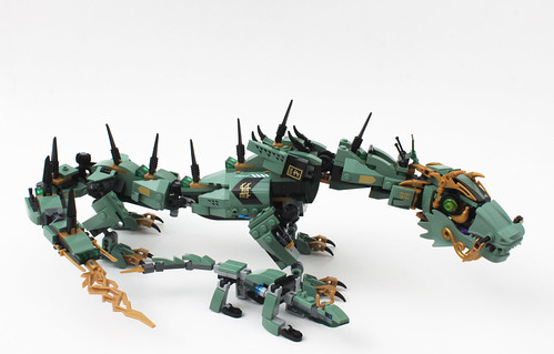 the lego ninjago movie mini green ninja mech dragon 30428
