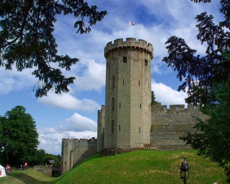 Warwick Castle, Guy's Tower. Credit Elliott Brown
