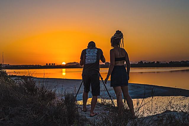 Sunset back Cagliari city, Nikon D750, AF-S Nikkor 50mm f/1.8G