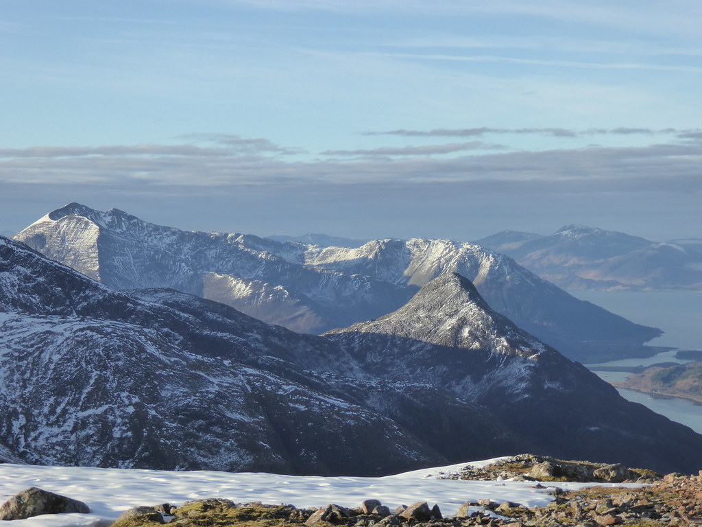 Ballachulish Narrows and Pap of Glencoe from Garbh Bheinn
