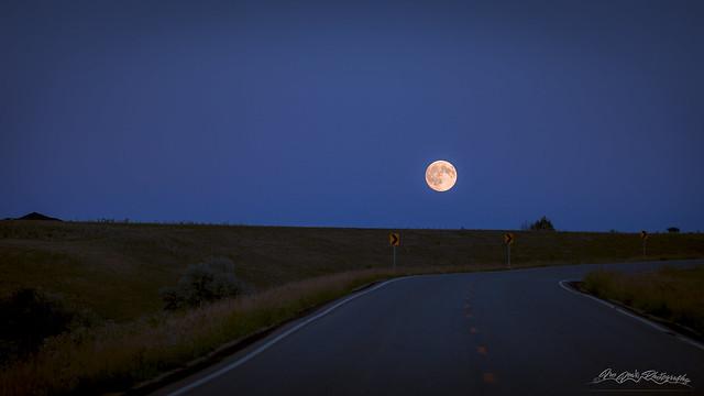 Rising Prairie Moon