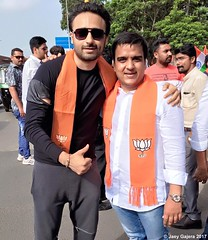 BJP National Youth Vice President Harsh Sanghavi and Jaey Gajera snapped together celebrating Independence Day with BJP Party Members of Gujarat. We at Bharatiya Janta Party [BJP] want you to stand up for our nation and raise your voice against crime. Hap
