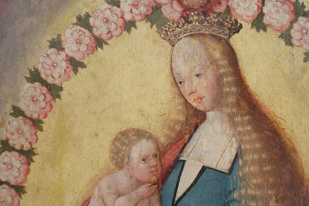 Portrait de la Vierge Marie et de Jésus au Musée National à Copenhague.