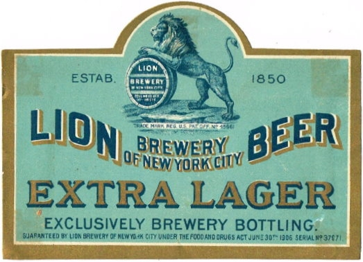 Lion-Extra-Lager-Beer--Labels-Lion-Brewery-Of-New-York-City