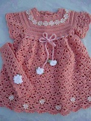 🙋❤ I loved this model of pink dress for baby, simple and delicate crochet pattern  step by step