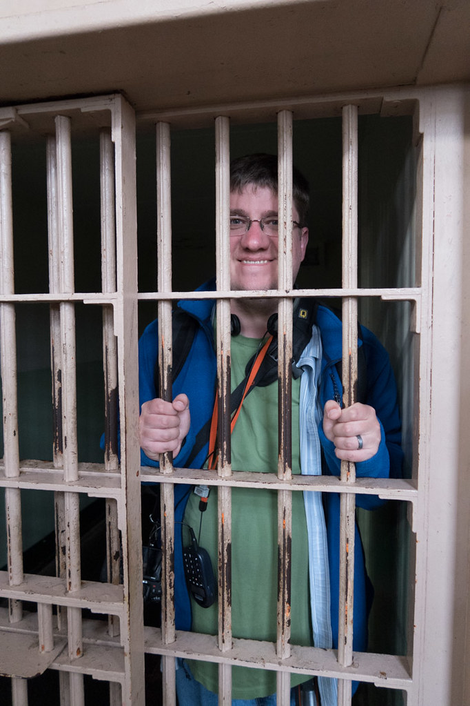 Ken behind bars at Alcatraz