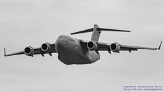 BIG, BOLD AND IN BLACK & WHITE... THE C-17 INCOMING