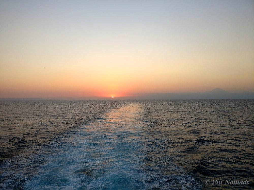 sunset Lombok ferry