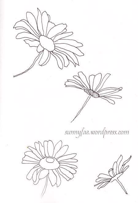daisy line drawing