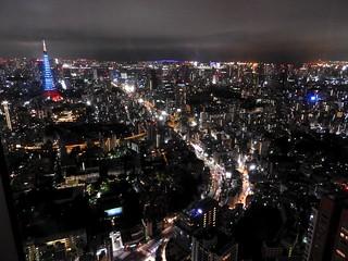 六本木ヒルズから(ジブリ展)05 青い東京タワー