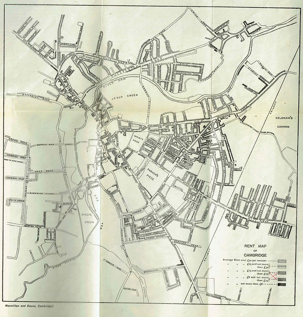 Eglantyne Jebb - 1906 Rental Map Cambridge Study in Social Questions