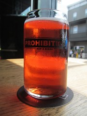 Prohibition beer can glass